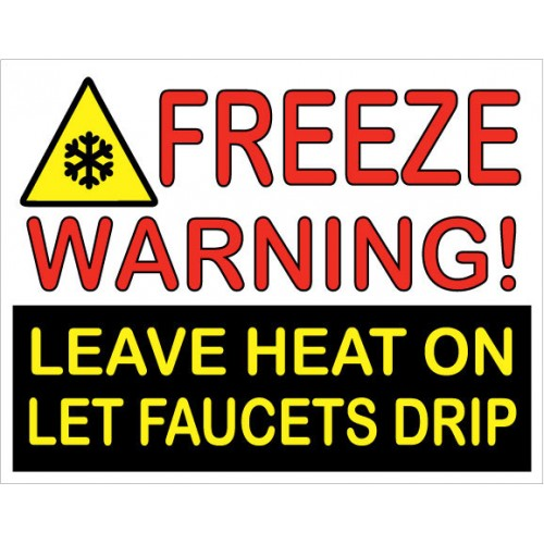Freeze Warning Sign