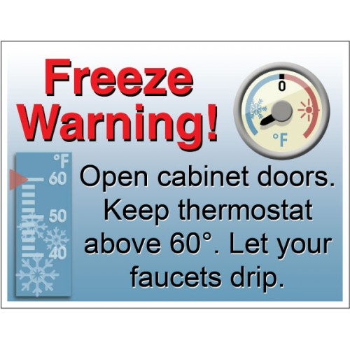 Alert Freeze Warning Sign