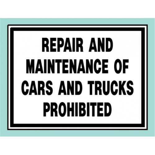 Repair Of Cars Sign