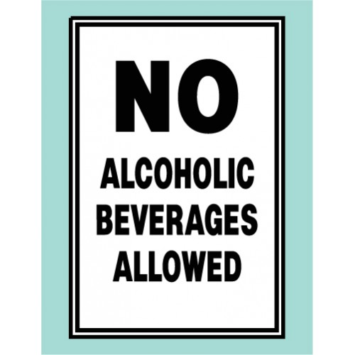 No Alcoholic Beverage Sign