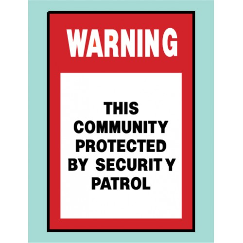 Community Protected Sign