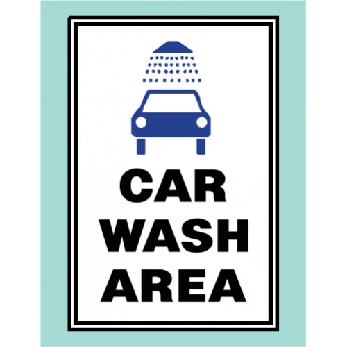 Car Wash Area Sign
