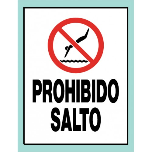 Spanish Universal No Diving Sign