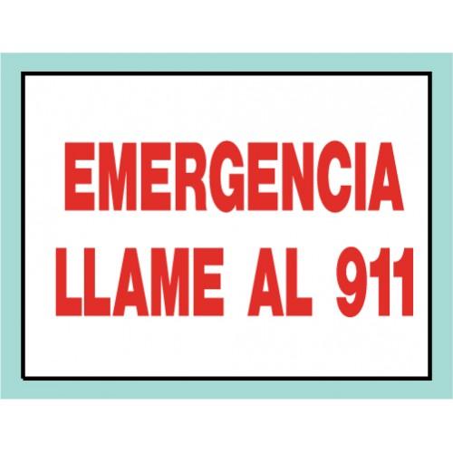 Spanish Emergency 911 Sign