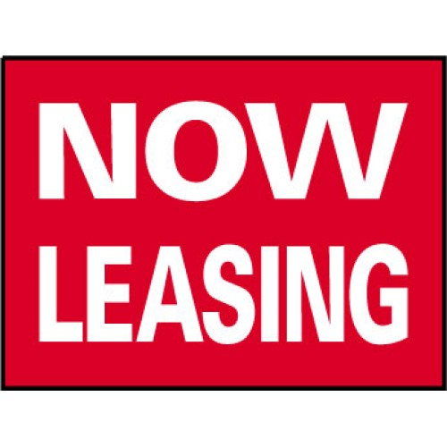 Big Ole Red Now Leasing Sign