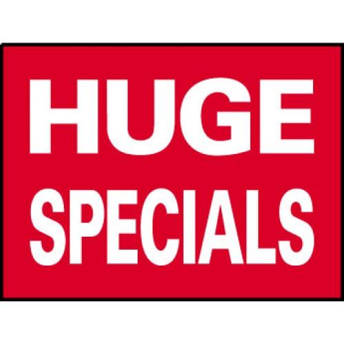 Big Ole Red Huge Specials Sign