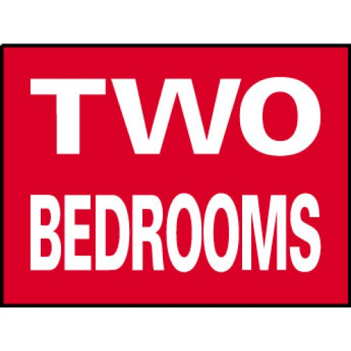 Big Ole Red Two Bedroom Sign