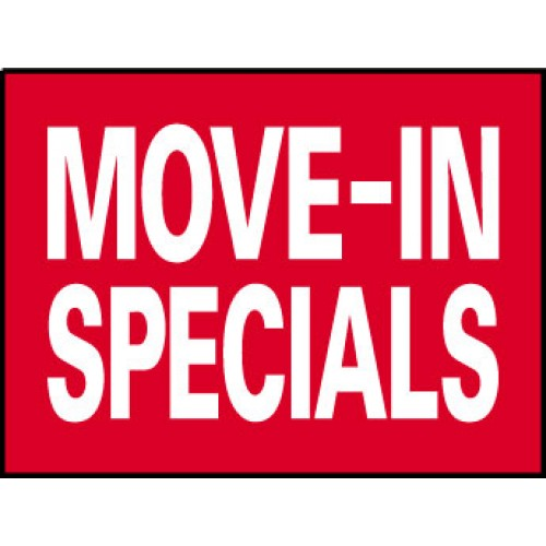 Big Ole Red Move In Specials Sign