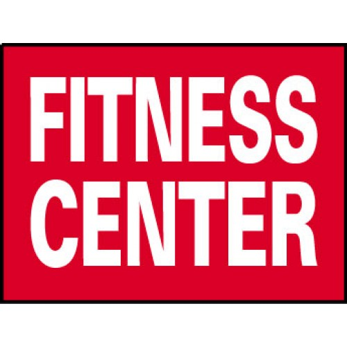 Big Ole Red Fitness Center Sign