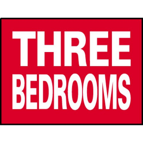 Big Ole Red Three Bedrooms Sign