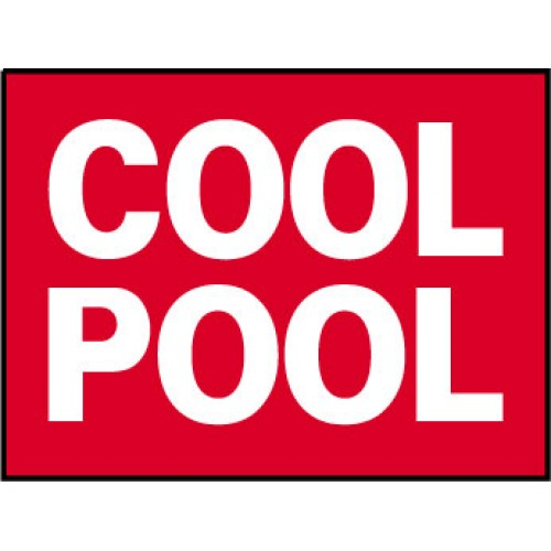 Big Ole Red Cool Pool Sign