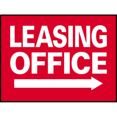 Big Ole Red Leasing Office Sign