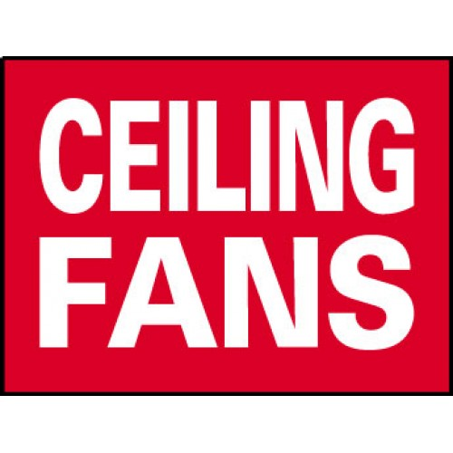 Big Ole Red Ceiling Fans Sign