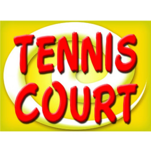 Bright and Bold Tennis Court Sign