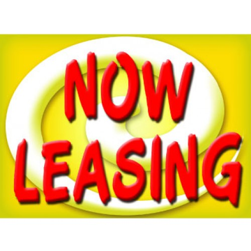 Bright and Bold Now Leasing Sign
