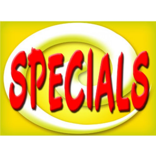 Bright and Bold Specials Sign