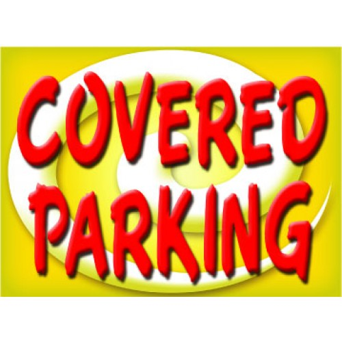 Bright and Bold Covered Parking Sign