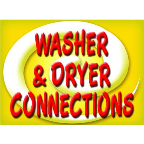 Bright and Bold Washer Dryer Sign