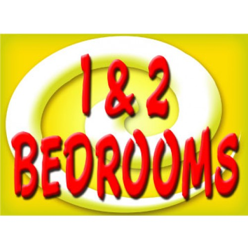 Bright and Bold 1 & 2 Bedroom Sign