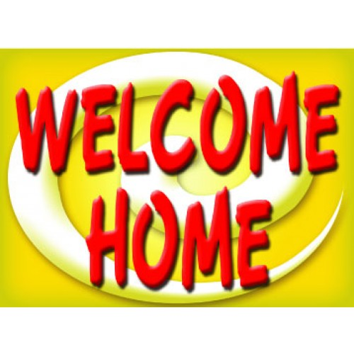 Bright and Bold Welcome Home Sign