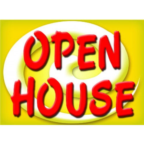 Bright and Bold Open House Sign