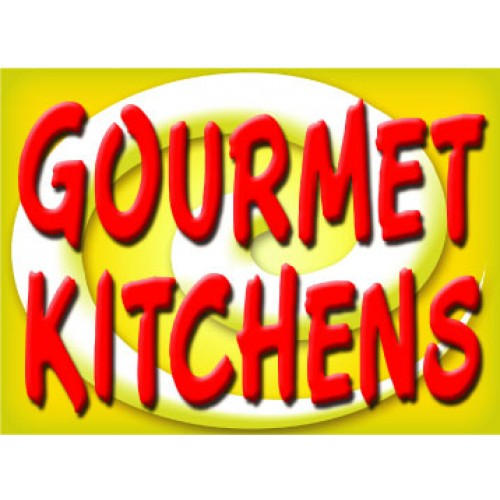 Bright and Bold Gourmet Kitchen Sign