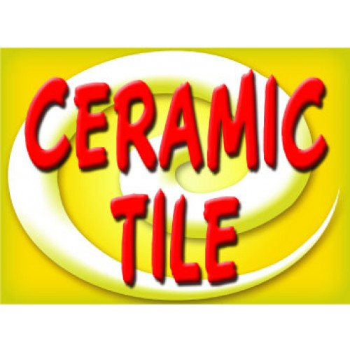 Bright and Bold Ceramic Tile Sign