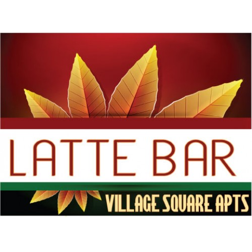 Burst Of Autumn Latte Sign