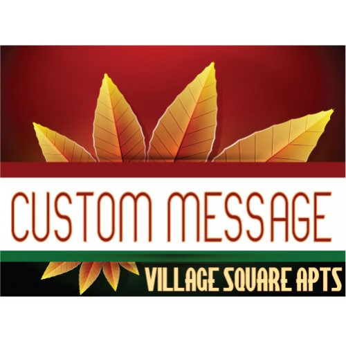 Burst Of Autumn Custom Message Sign