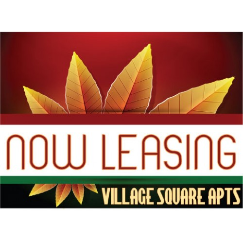 Burst Of Autumn Now Leasing Sign