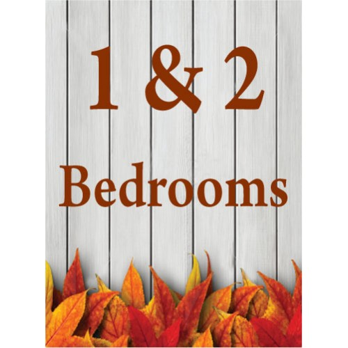 Fall Gate 1 & 2 Bedroom Sign