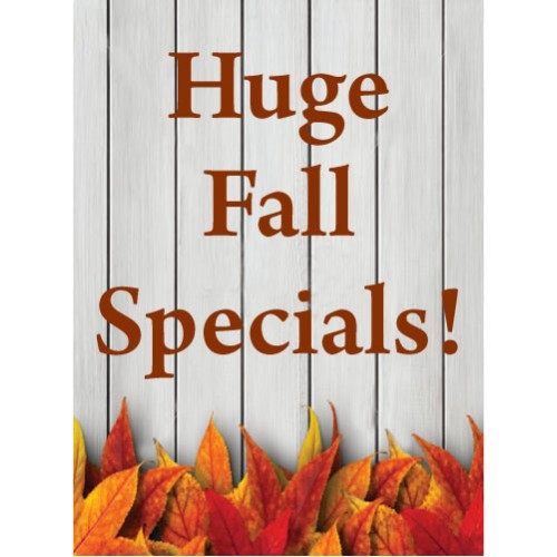 Fall Gate Specials Sign