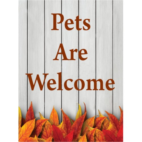 Fall Gate Pet Sign