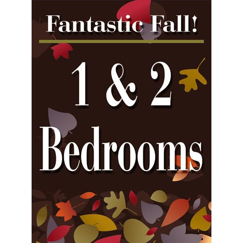 Fantastic Fall 1 2 Bedroom Sign