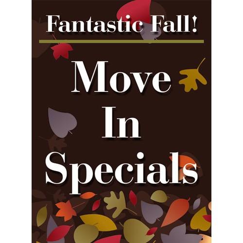 Fantastic Fall Move In Specials Sign