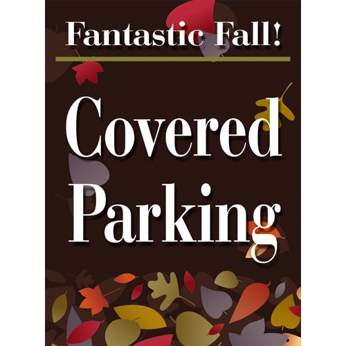 Fantastic Fall Parking Sign