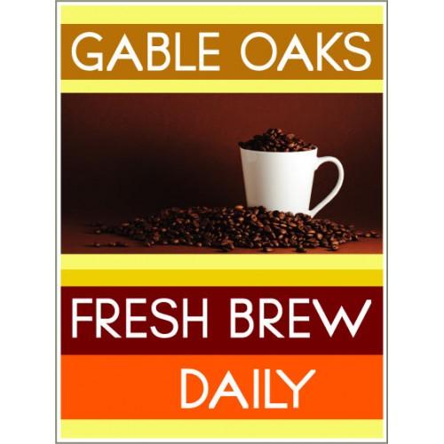 Fresh Approach Coffee Sign