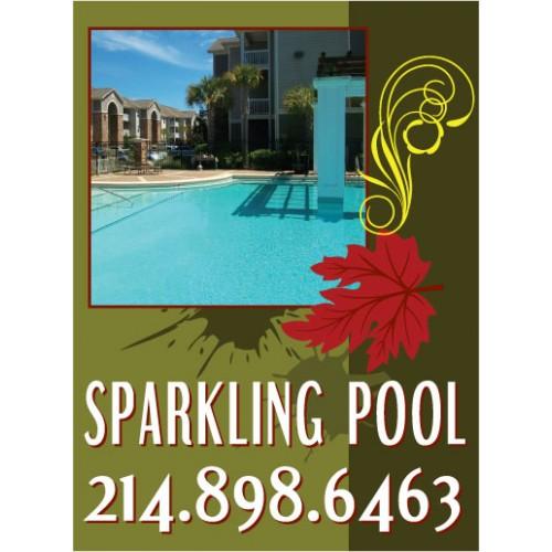 Live Smart Pool Sign