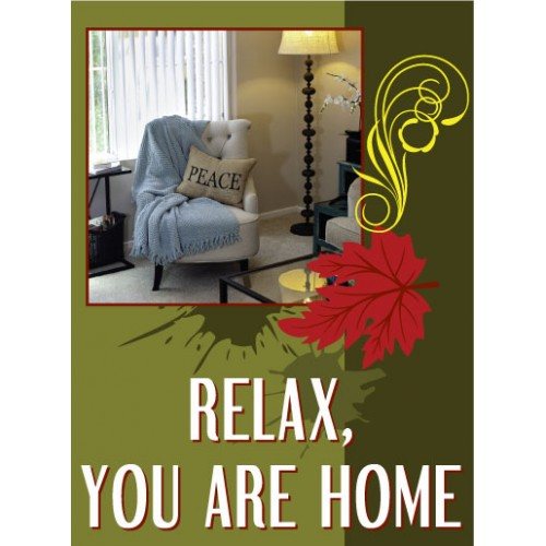 Live Smart Relax Sign