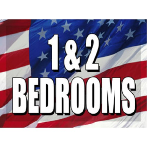 O Say Can You See 1 and 2 Bedrooms Sign