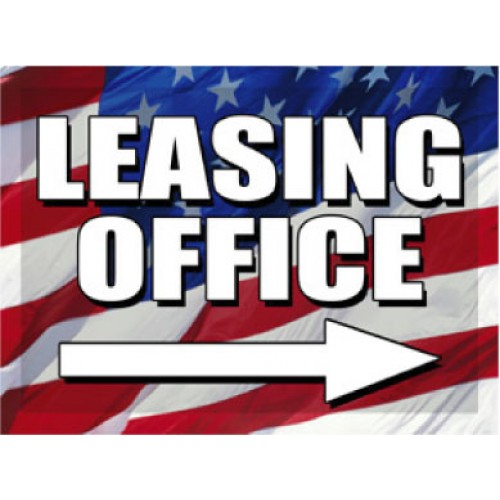 O Say Can You See Leasing Office Directional
