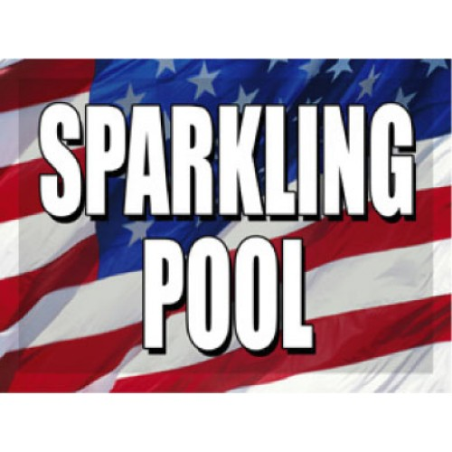 O Say Can You See Sparkling Pool Sign