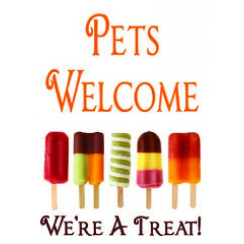 Popsicles Pets Welcome Sign