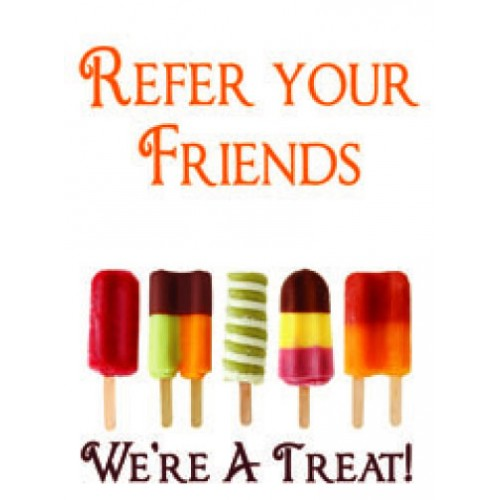 Popsicles Refer Friends Sign