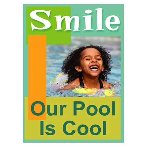 Smiles Cool Pool Sign
