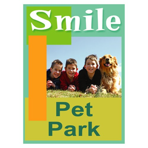 Smiles Pet Park Sign