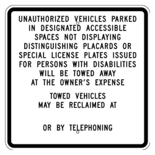 California Handicap Sign