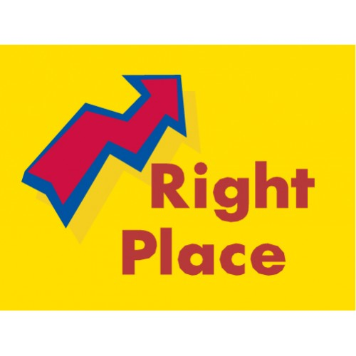 Arrow Right Place Sign