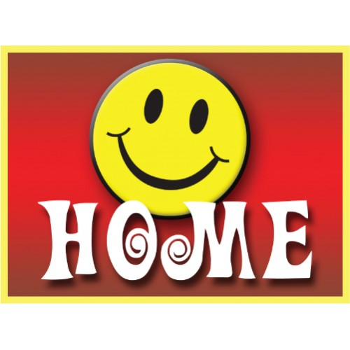 Be Happy Home Sign