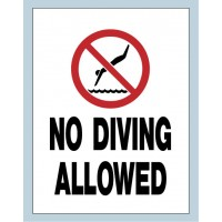 Universal No Diving Sign
